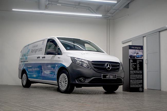 Mercedes-Benz Vans ofrece diferentes carrozados para múltiples usos.. En la foto, la eVito isotermo.