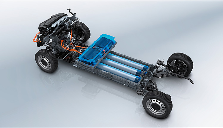 Plataforma del Peugeot e-Expert Hydrogen coches electricos