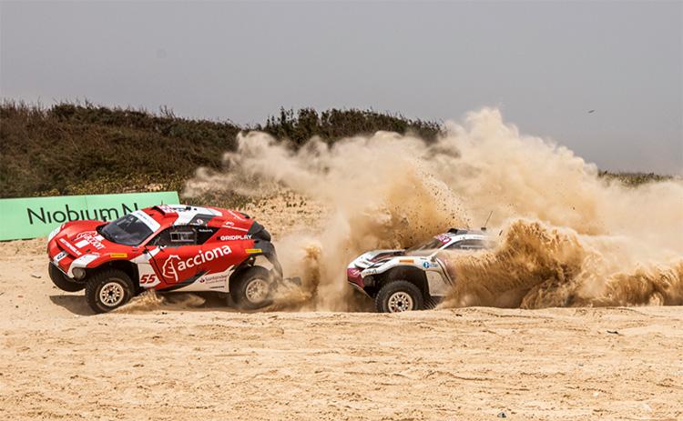 El equipo Acciona / Sáinz XE Team, de Carlos Sáinz y Laia Sanz, tuvo una avería en la primera clasificación que, por una cuestión de tiempos, le impidió estar en la final.