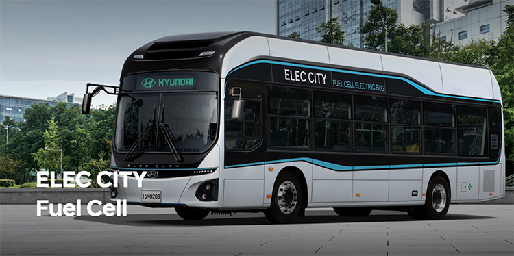 Hyundai Elec City Fuel Cell electric bus.