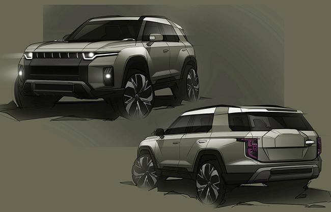 Además del Korando e-Motion, la marca planea lanzar un SUV más grande en 2022 que, de momento, se conoce como el J100.