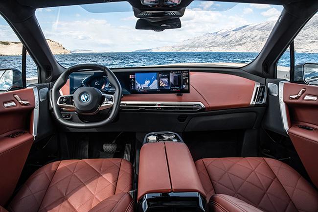 BMW iX diseño interior.