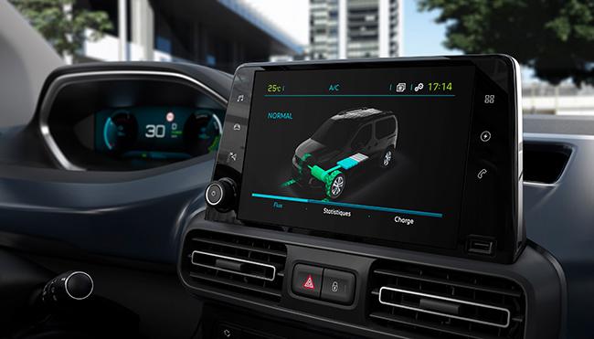 DISEÑO Interior del Peugeot e-Rifter