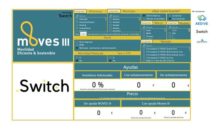 APP de AEDIVE y Switch.