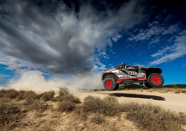 Audi RS Q e-tron de pruebas en Zaragoza