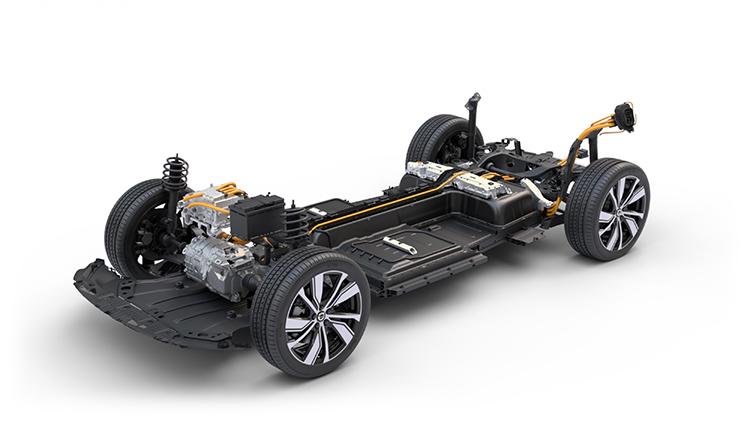 Volvo XC40 Recharge de un solo motor eléctrico.