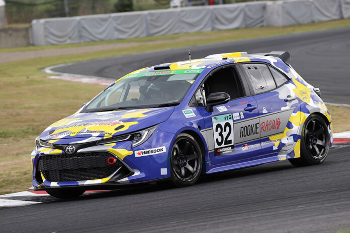 Toyota Corolla GR Sports de hidrógeno en las '24 horas de Fuji'.