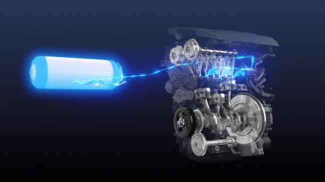 Motor de hidrógeno del Corolla.