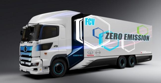 Camión de hidrógeno fruto de la colaboración entre Toyota e Hino.